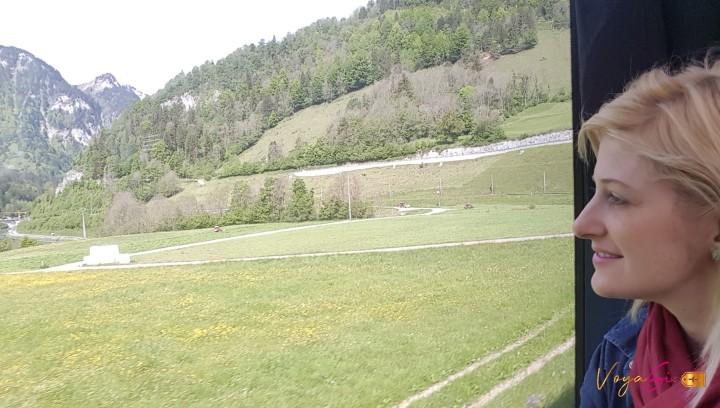 Viagem à Suíça: Golden Pass Line. De Genebra a Zurique deTrem.